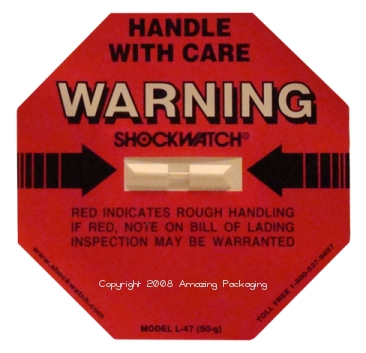 Shock Watch Label - L47